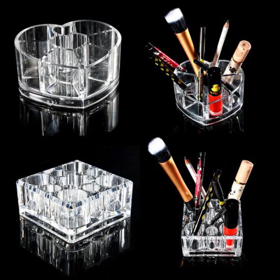 Acrylic Transparent Cosmetic Organizer Makeup Storage Box Container 2021