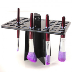 Black Collapsible 42 Small Makeup Brush Drying Rack Holder Stand
