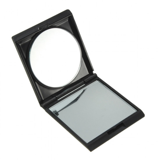 Black Portable Collapsible Double Sided Magnifying Makeup Mirror 2021