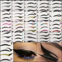 Black Temporary Eye Tattoo Transfer Eyeshadow Eyeliner Stickers