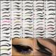 Black Temporary Eye Tattoo Transfer Eyeshadow Eyeliner Stickers 2021
