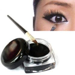 Black Waterproof Eye Liner Eyeliner Gel With Brush