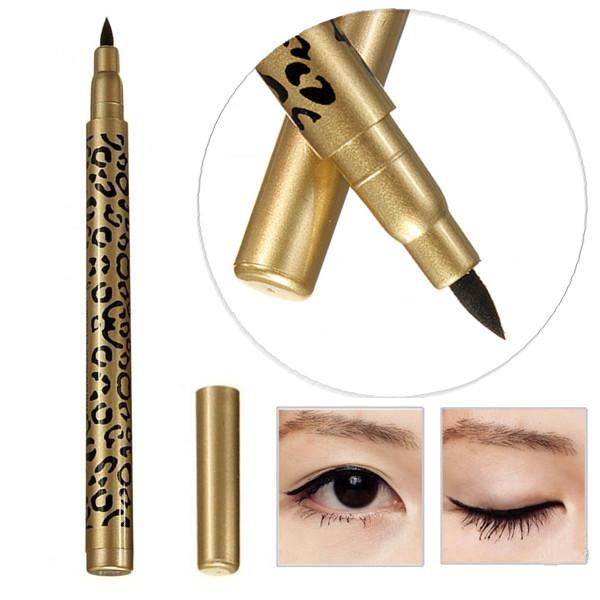 Black Waterproof Leopard Print Eye Liner Pencil Liquid Eyeliner Pen Makeup