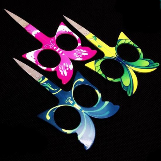 Butterfly Embroidery Sewing Eyebrow Eyelash Vibrissac Scissor 2021