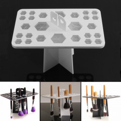 Collapsible 24 Mix Size Makeup Brush Drying Rack Holder Stand