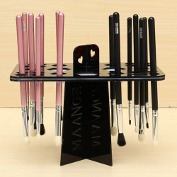 Collapsible Mix Size Makeup Brush Drying Rack Holder Stand