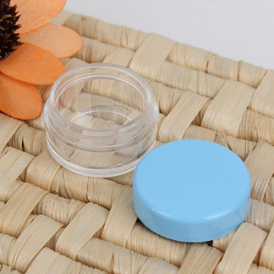 Colorful Empty Cosmetic Jars Eyeshadow Nail Decals Container 2021