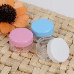 Colorful Empty Cosmetic Jars Eyeshadow Nail Decals Container