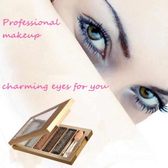 Cosmetic 5 Colors Eyeshadow Makeup Glitter Eye Shadow Palette 2021