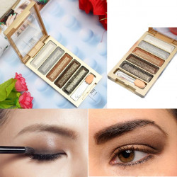 Cosmetic 5 Colors Eyeshadow Makeup Glitter Eye Shadow Palette
