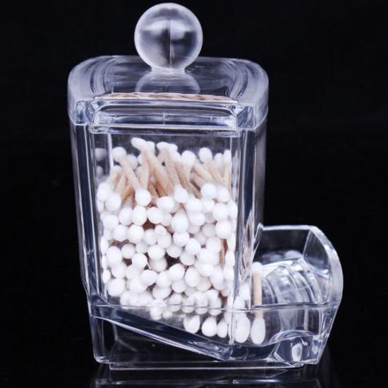 Cosmetic Q-tip Cotton Swabs Acrylic Holder Storage Box 2021