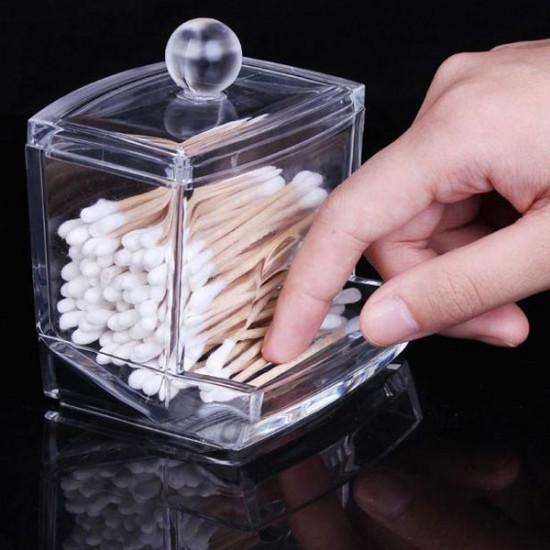 Cotton Swab Holder Cosmetic Cotton Pads Storage Box 2021
