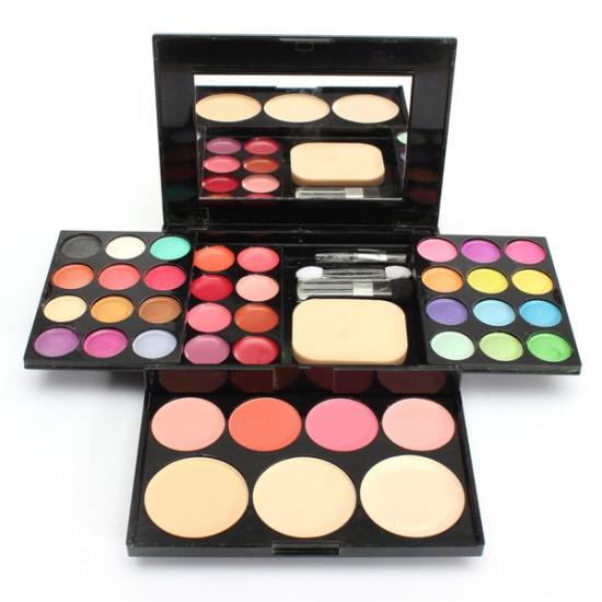 Eyeshadow Blusher Lip Gloss Powder Foundation Puff Makeup Palette Set 2021
