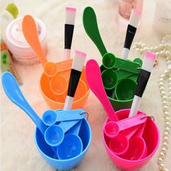 Four Set Series Mask Bowl+Stick+Brush+Measuring Spoons Mask Tool Set