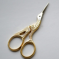 Gold Vintage Style Crane Shaped Embroidery Sewing Eyebrow Scissor