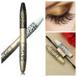 Leopard Lengthening Thicker Mascara 2 Brushes Fiber Gel Makeup