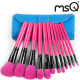 MSQ 12Pcs Rose Red Professional Makeup Cosmetic Brushes Sets Kit