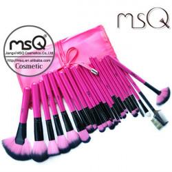 MSQ 24Pcs Pink Soft Persian Wool Makeup Cosmetic Brushes Set Kit