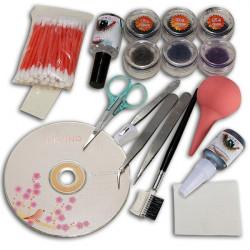 Makeup False Fake Eyelash Eye Lashes Extension Cosmetic Set Kit