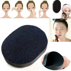 Makeup Foundation Powder Washing Bamboo Charcoal Puff Sponge Cleaner