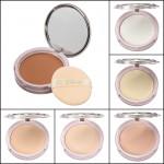 Makeup Smooth Moisturizing Pressed Powder Facial Compact Foundation Makeup
