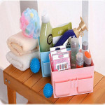 Multi-Space Waterproof  Cosmetic Storage Rack Box Plastic Container Makeup