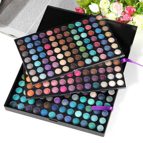 Pro Full 252 Color Makeup Cosmetic Shimmer Matte Eyeshadow Palette 2021