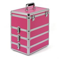 Professional Aluminium Box Hairdressing Beauty Pink Nail Art Salon