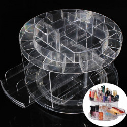 Rotating Acrylic Make Up Organizer Cosmetic Storage Holder Container