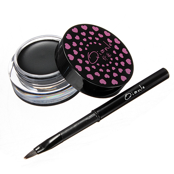 Soft Waterproof Long-lasting Eyeliner Gel Cream with Brush Makeup Set Makeup