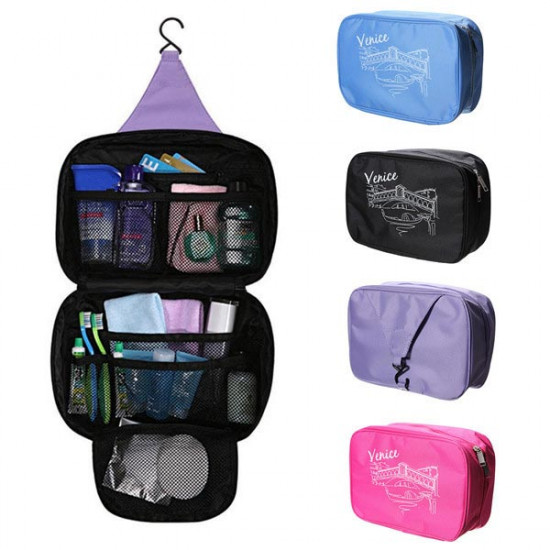 Travel Hanging Wash Folding Bag Toiletry MakeUp Cosmetic Case