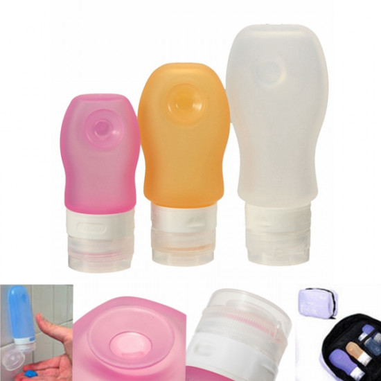 Travel Portable Silicone Lotion Shampoo Suction Cream Container Bottle 2021