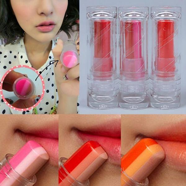 Triple Mix Colors Core Longlasting Lipstick Lip Balm Makeup