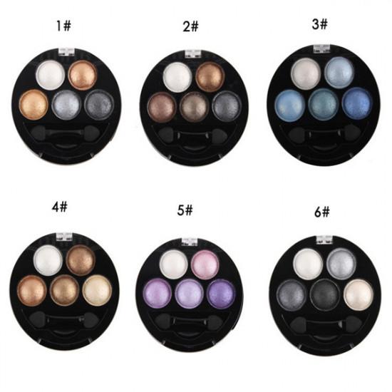 UBUB 5 Colors Eyeshadow Metallic Shimmer Eye Shadow Powder 2021