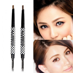 Waterproof Makeup Cosmetic Eye Liner Brown Eyebrow Brush Pen