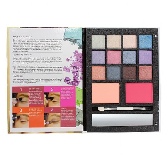 Women's Smoky Eyeshadow Face Blush Powder Brush Makeup Kit 2021