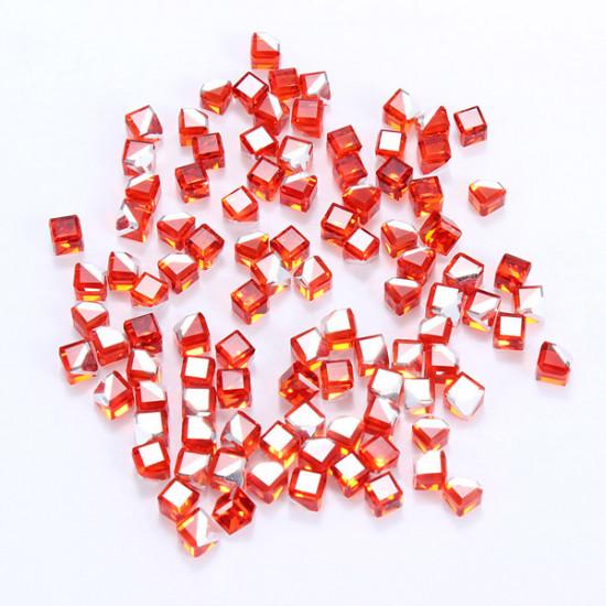 100PCS Cube Crystal Nail Art Stickers Rhinestone Phone Decals 2021