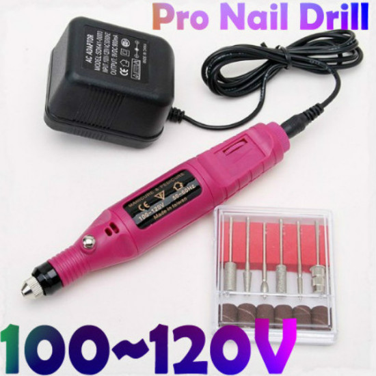 100V~120V Electric Nail Art 6 Drill Carve Engraving Machine Tool 2021