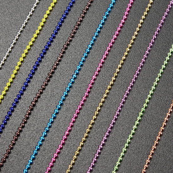 100cm 3D Caviar Ball Beads Chain Nail Art Decorations 2021