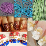 100cm 3D Caviar Ball Beads Chain Nail Art Decorations Nail Art