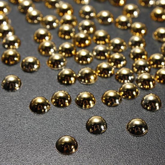 100pcs Half Round Pearl Bead Nail Art Tips 3D Gems Decoration 5mm 2021