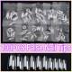 100pcs Silver Salon French Acrylic False 3D Nail Art Tips 2021