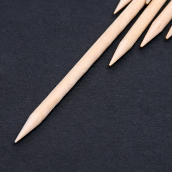 100 x Orange Wood Stick Nail Art Cuticle Pusher Remover 2021