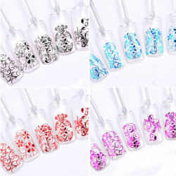 108Pcs 3D Flowers Hot Stamping Decals Nail Art Sticker