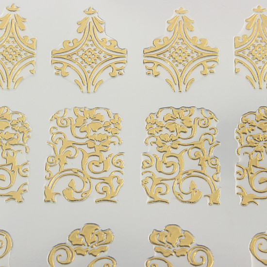 108Pcs Gold Rose Flowers Nail Art Manicures Stickers Decal 2021
