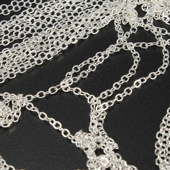 10M Acrylic Tiny Line Chain Shape Nail Art Tips DIY Decoration 2021