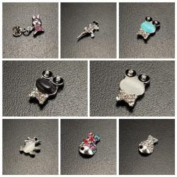 10PCS Crystal Frog Rabbit Fish Animals Manicure Nail Art Decoration