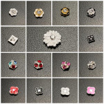 10PCS Flowers Shiny Crystal Manicure Nail Art Decoration Nail Art
