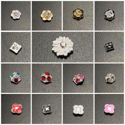 10PCS Flowers Shiny Crystal Manicure Nail Art Decoration
