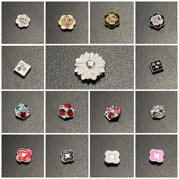 10PCS Flowers Shiny Crystal Manicure Nail Art Decoration